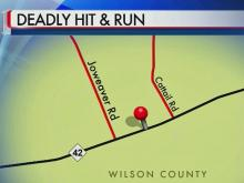 Wilson authorities search for car in hit-and-run
