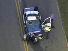 Raleigh police car involved in crash
