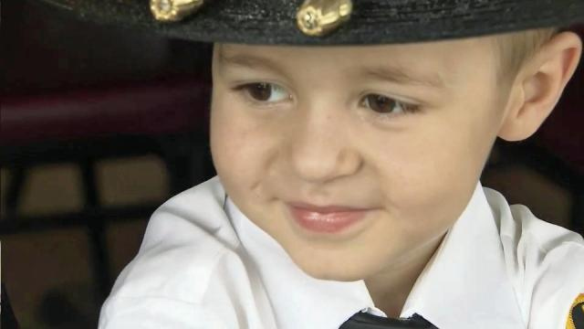 Toughness earns 4-year-old a badge