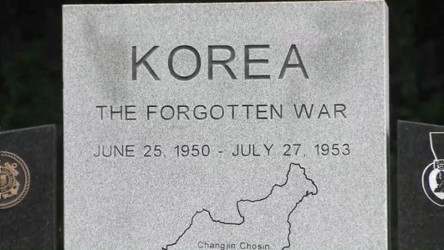 Korean War monument in Fayetteville
