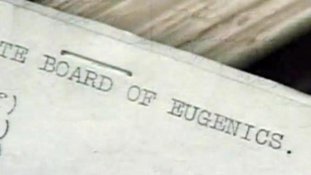 NC Board of Eugenics document