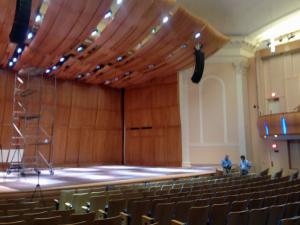 Baldwin Auditorium, on Duke University's East Campus, serves as a primary rehearsal and performance space for several student ensembles.