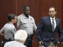 Samuel Gideon enters a Wake County courtroom Aug. 5, 2013, the first day of his second-degree murder trial for the Jan. 15, 2012, death of Eleazar Brache Herrera.