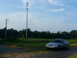 A man fell off a cell tower on N.C. Highway 55 in Harnett County on Monday afternoon, authorities said.