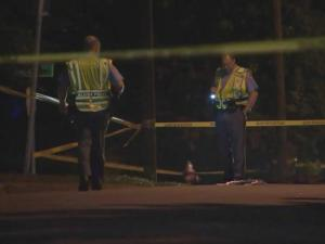 Raleigh police are looking for the driver and vehicle that hit a man lying on a road Saturday night and then drove off.