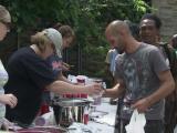 Feeding homeless