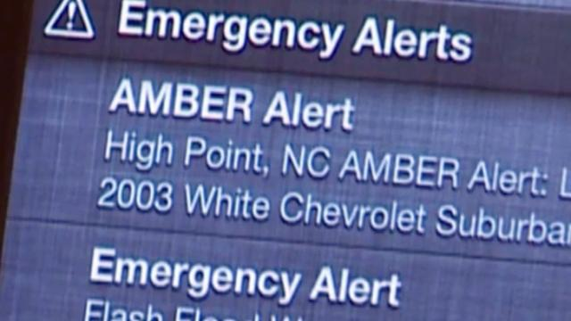 Amber Alert text message