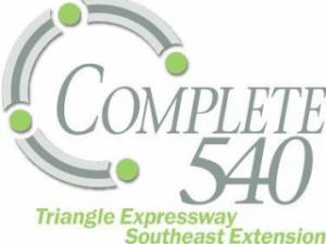 "The North Carolina Department of Transportation has created this logo for the ""Complete 540"" project to close Raleigh's outer loop, N.C. Higway 540."