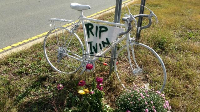 Memorial to cyclists killed in Chapel Hill