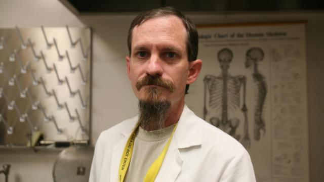 Clyde Gibbs Jr. is a medical examiner specialist who specializes in unidentified persons cases.