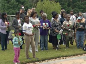 The families of people who have lost their lives to violence in Durham came together Wednesday for an emotional ceremony marking the National Day of Remembrance for Murder Victims.