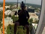 "Raleigh police officer Joe Bruno goes ""Over the Edge"" for Special Olympics."