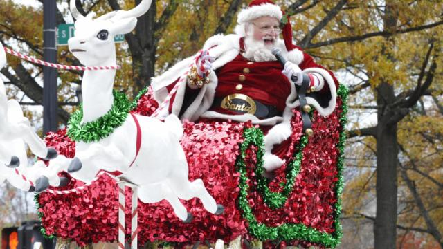 at the Raleigh Christmas Parade in downtown Raleigh on Saturday, November 23, 2013.