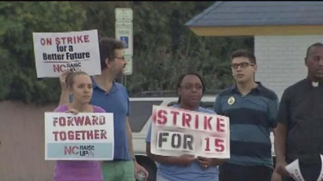 Fast-food workers strike