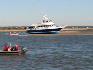 Bald Head ferry runs aground