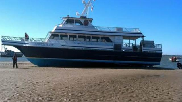 Bald Head ferry runs aground