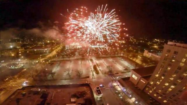 Knightdale man uses drone to get sky-high view of First Night