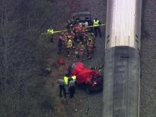 Sky 5: Train hits car at Cary rail crossing