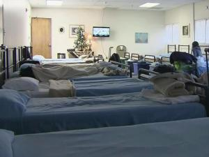 The Raleigh Rescue Mission has a warm place for the homeless to stay during emergency weather.