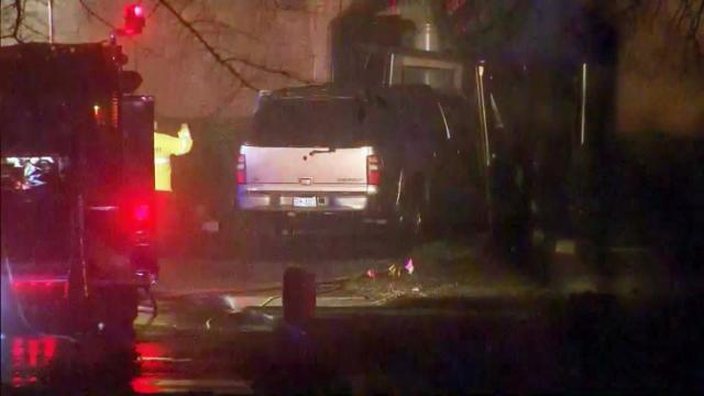 Wake sheriff: Man set house on fire, drove SUV into church, killed himself
