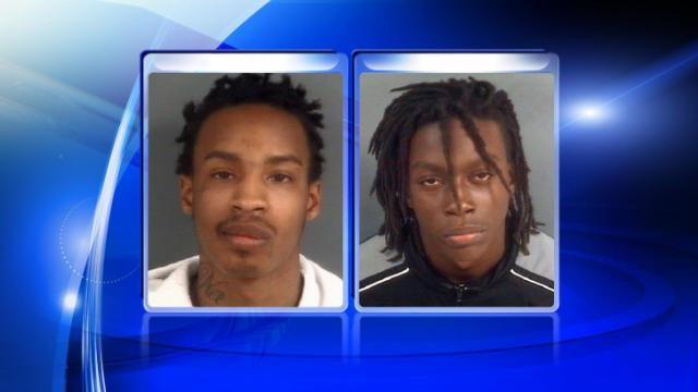 Malcolm Trevell Lamar Autry (left) was arrested on 1/13/14 in connection with one of a string of armed robberies committed within four hours on 1/10/14. Investigators are still looking for Corey Lamont McMillan, 20, (right) in connection with the same incident.