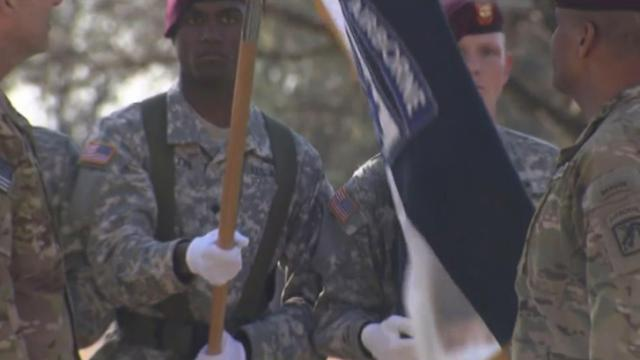 Colors casing ceremony at Fort Bragg