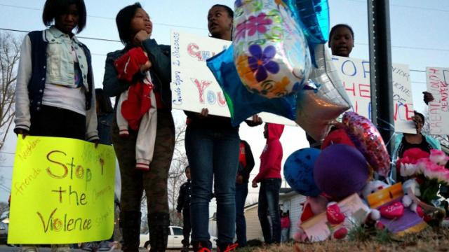 Dozens march for slain Rocky Mount teen