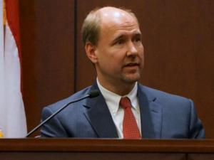 Laura Ackerson's family law attorney, John Sargeant, testifies Feb. 7, 2014, in the first-degree murder trial of Amanda Hayes. (Chad Flowers/WRAL)