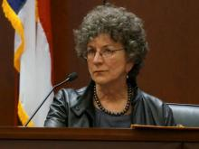 Psychologist Ginger Calloway testifies Feb. 7, 2014, in the first-degree murder trial of Amanda Hayes. (Chad Flowers/WRAL)
