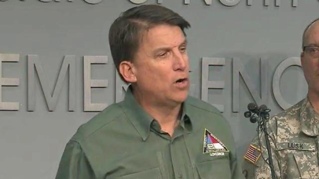 Gov. Pat McCrory holds a news conference on Feb. 13, 2014.