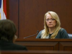 Patricia Bakarat testifies as a rebuttal witness for the state in the first-degree murder trial of Amanda Hayes on Feb. 14, 2014. (Chad Flowers/WRAL)