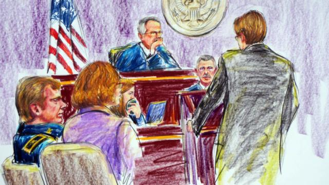 Courtroom sketch of Gen. Jeffrey Sinclair court-martial