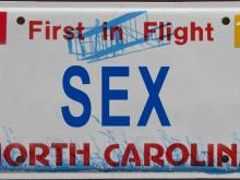 100 rejected North Carolina license plates (Photo illustrations by Valerie Aguirre & Kelly Hinchcliffe)