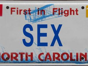 Rejected North Carolina license plate