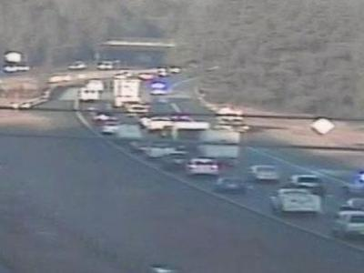 Wreck slows traffic on I-40 at Trailwood
