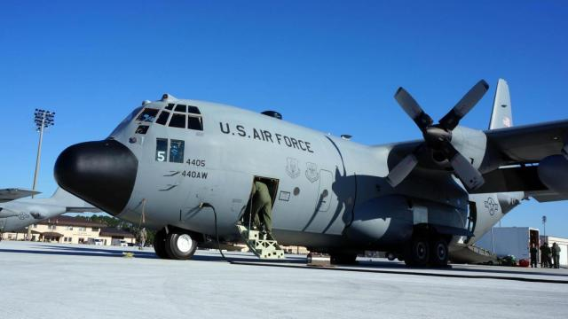 A C-130 plane similar to this one collided with another military transport plane near Fort Bragg on Dec. 1, 2014.