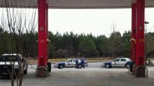 Customers were kept inside the Sheetz store as authorities investigated reports of suspicious packages left at the pumps. Customer Kevin Powell  took this image with his cellphone.