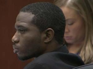 Jahaad Tariem Allah Marshall, 27, sits in a Wake County courtroom on March 20, 2014, for opening statements in trial for a a series of home invasions in Raleigh in 2012 and 2013.