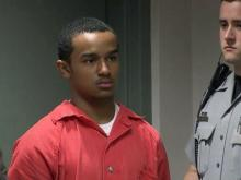Je'Michael Malloy makes his first court appearance on April 9, 2014, a day after his arrest on a second-degree murder charge in the death of Danielle Locklear.