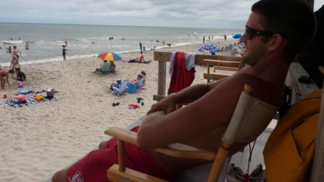Dylan Bennick worked as a lifeguard on the Cape Hatteras National Seashore in 2013.