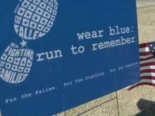 'Wear blue' marathon runners to honor fallen soldiers