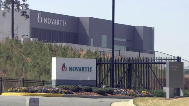 Novartis vaccine plant in Holly Springs