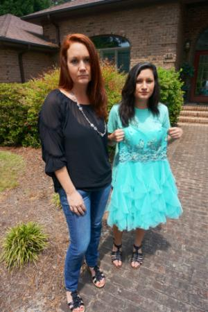Sarah Gomez, left, says her daughter, Julia, was turned away from the Pincrest High School prom on April 26, 2014, because her dress violated the school's dress code.