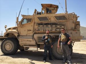 Fayetteville Observer reporter Drew Brooks, left, and photographer Andrew Craft in Afghanistan in April of 2014.