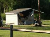 Shed explosion