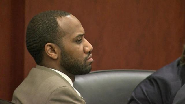 Armond Devega listens to closing arguments in his capital murder trial in for the deaths of two people during a series of Raleigh crimes in 2008.