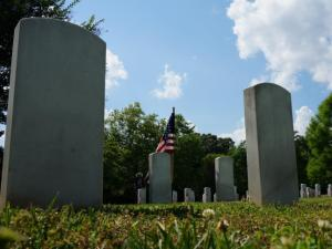 A patriotic observence was held at Oakwood Cemetery in Raleigh on Memorial Day.