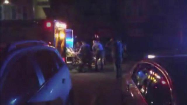 An officer was injured early Thursday in an incident at an apartment complex in north Raleigh.