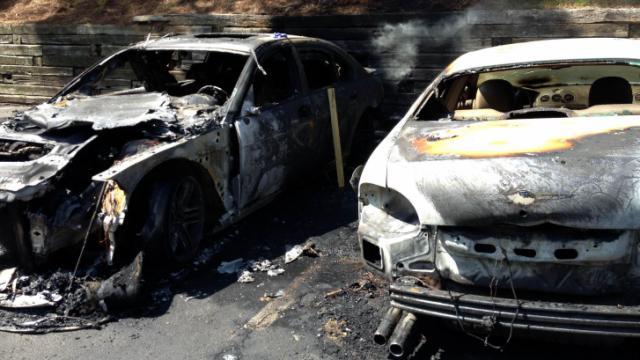 Raleigh car fires