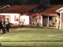 Fire damaged at least one unit at Hillcrest Village apartments in Fuquay-Varina early Wednesday.